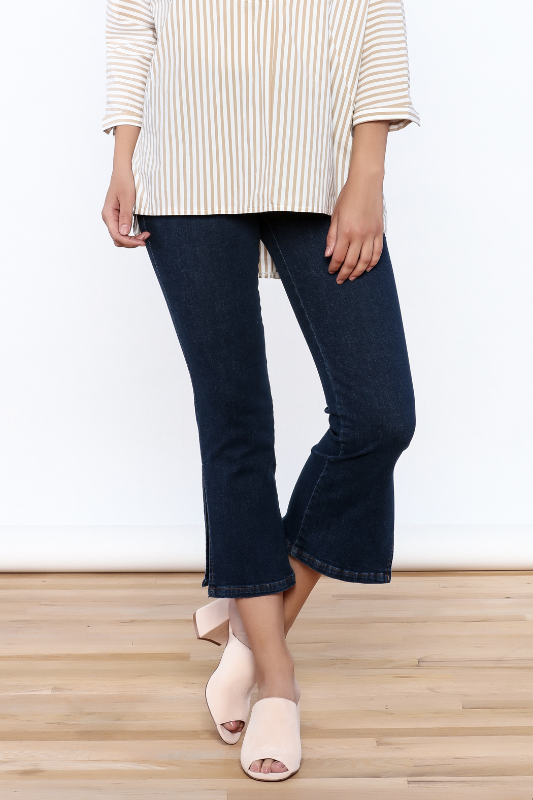 Pinkyotto Denim Bootcut Jeggings - Front Cropped Image