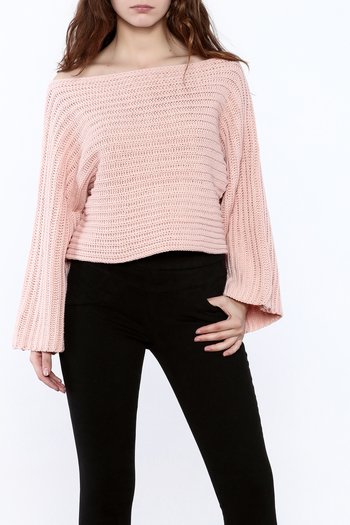 Pinkyotto Batwing Knit Cropped Sweater - Main Image