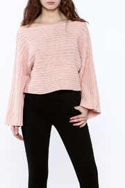 Pinkyotto Batwing Knit Cropped Sweater - Front cropped