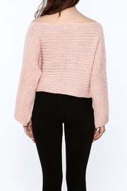 Pinkyotto Batwing Knit Cropped Sweater - Back cropped