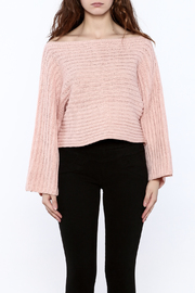 Pinkyotto Batwing Knit Cropped Sweater - Side cropped