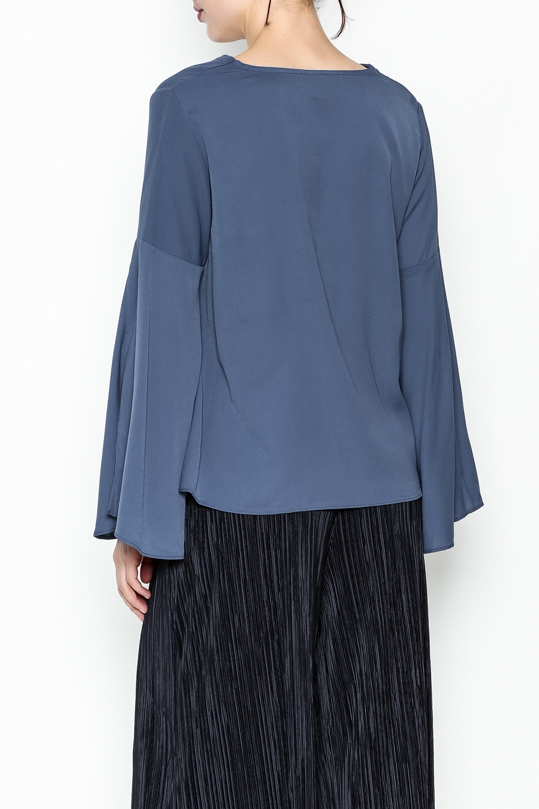 Pinkyotto Bell Sleeve Blouse - Back Cropped Image