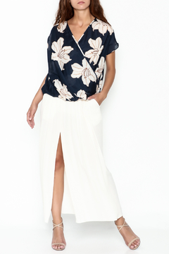 Shoptiques Product: Big Blooms Surplice Top