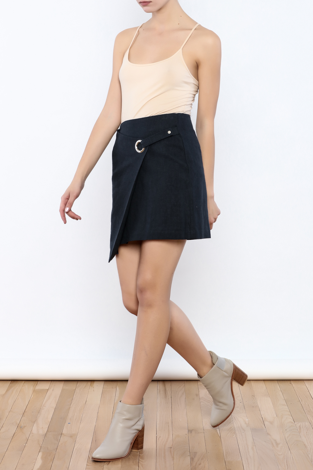 Pinkyotto Buckle Ring Skirt - Front Full Image