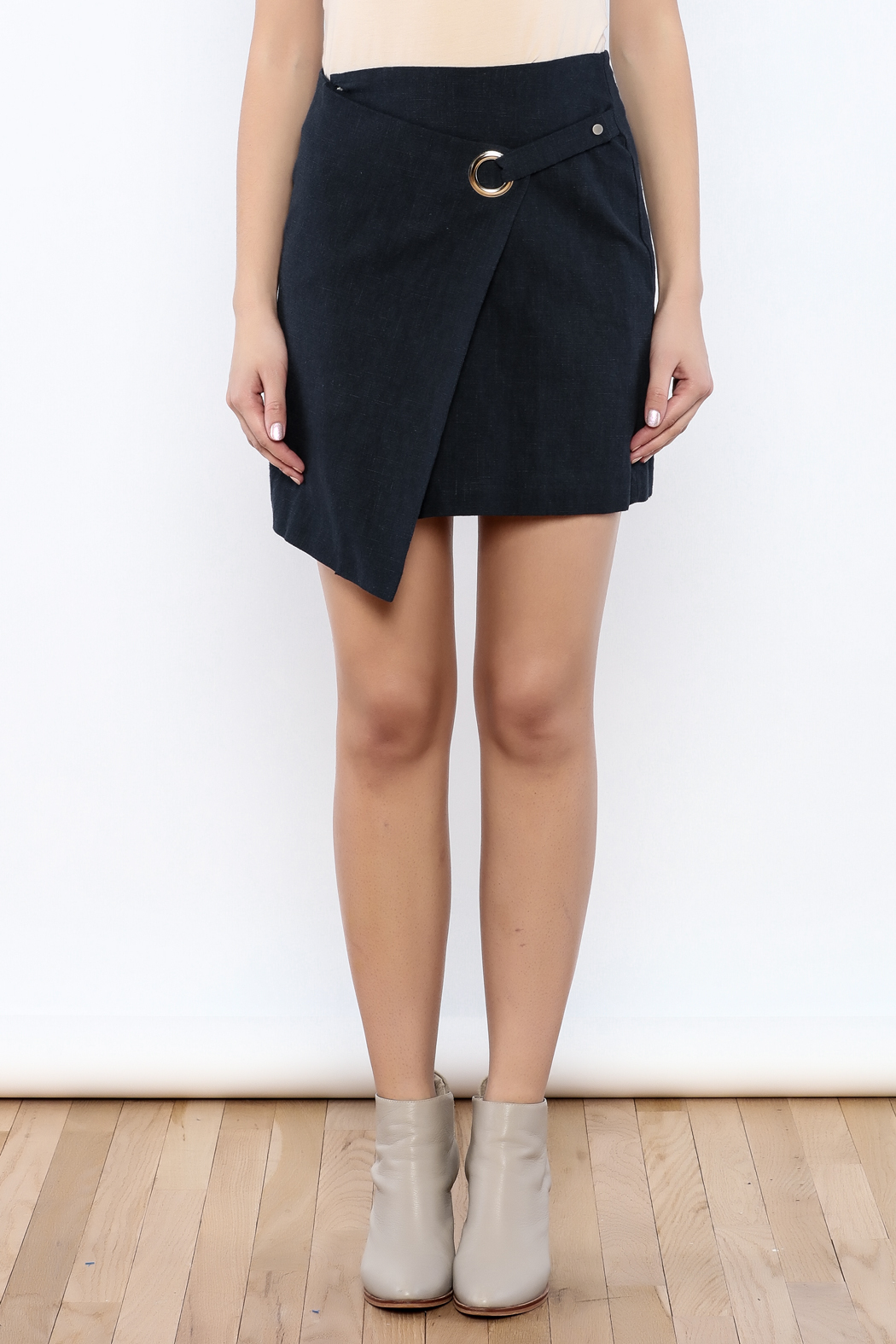 Pinkyotto Buckle Ring Skirt - Side Cropped Image
