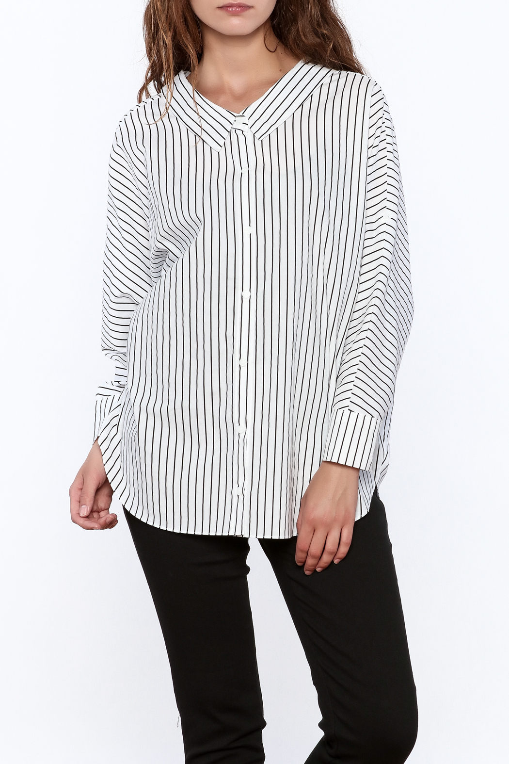 Pinkyotto Stripe Print Long Top - Main Image