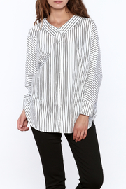Pinkyotto Stripe Print Long Top - Front cropped