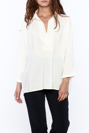 Pinkyotto White Long Top - Front cropped