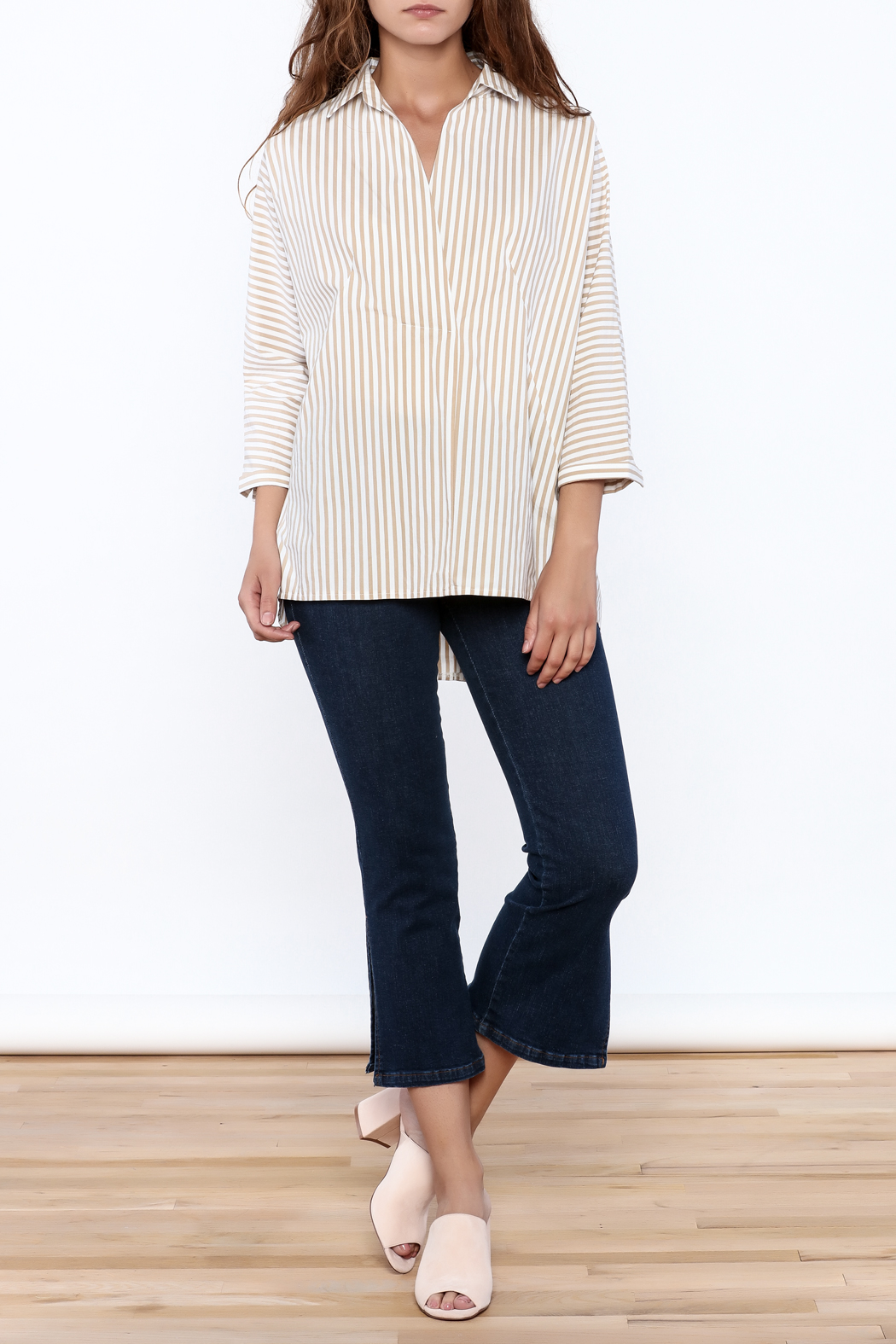 Pinkyotto Beige Long Top - Side Cropped Image