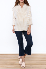 Pinkyotto Beige Long Top - Side cropped