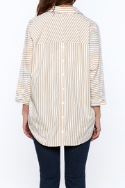 Pinkyotto Beige Long Top - Back cropped