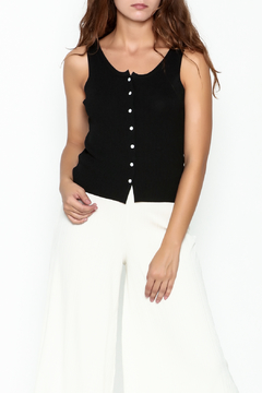 Shoptiques Product: Button Crop Tank Top