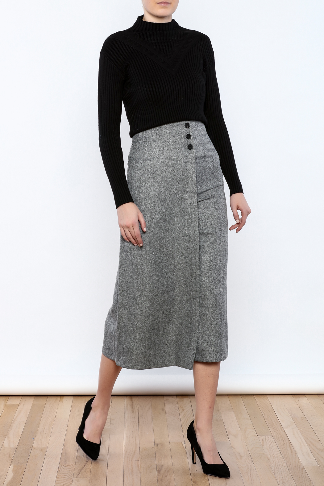 Pinkyotto Button Over Culottes - Front Full Image
