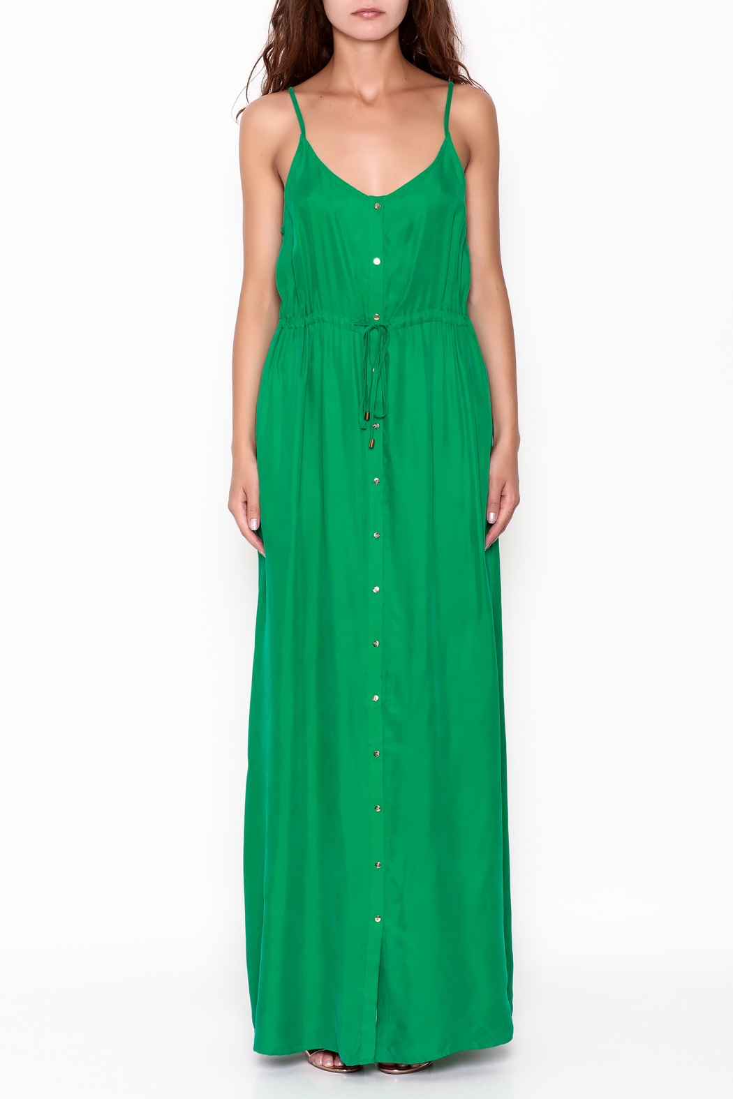 Pinkyotto Button Up Maxi Dress - Front Full Image