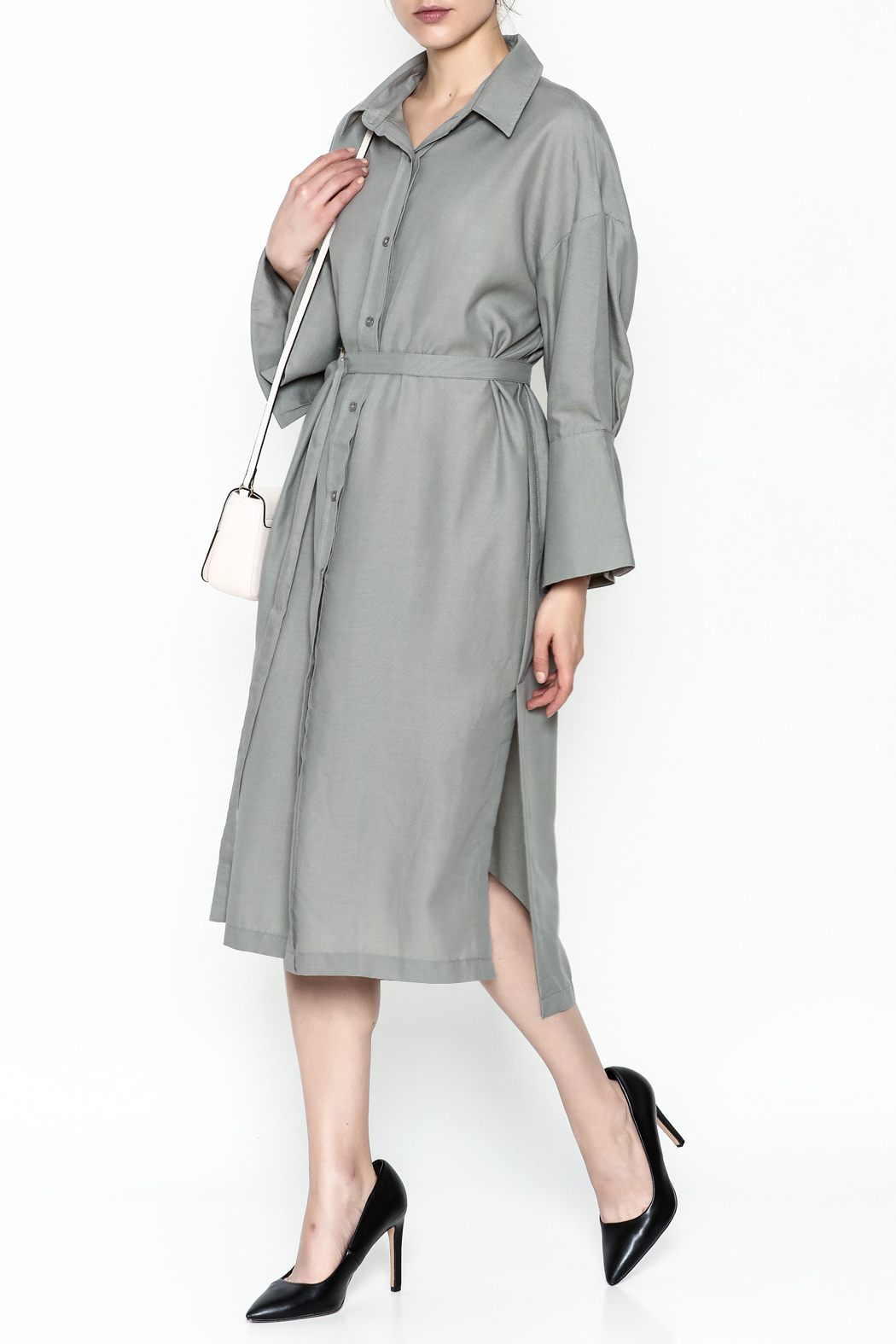 Pinkyotto Classic Shirt Dress - Front Cropped Image