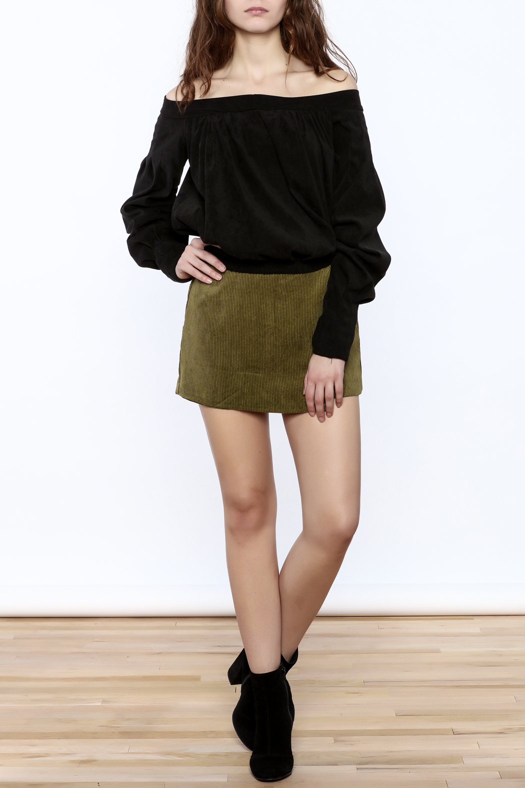 Pinkyotto Cool Corduroy Skort - Front Full Image