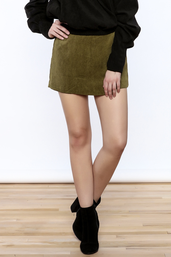 Shoptiques Product: Cool Corduroy Skort - main