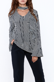 Pinkyotto Crooked Stripe Print Top - Front cropped