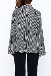 Pinkyotto Crooked Stripe Print Top - Back cropped
