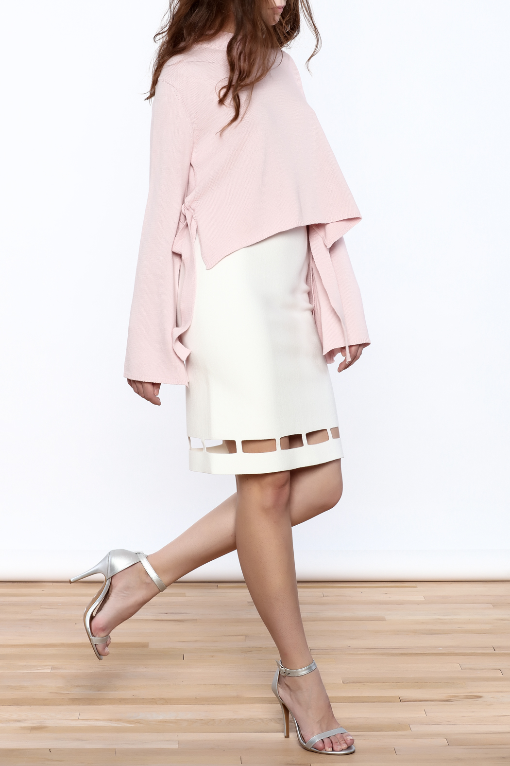 Pinkyotto White Pencil Skirt - Front Full Image