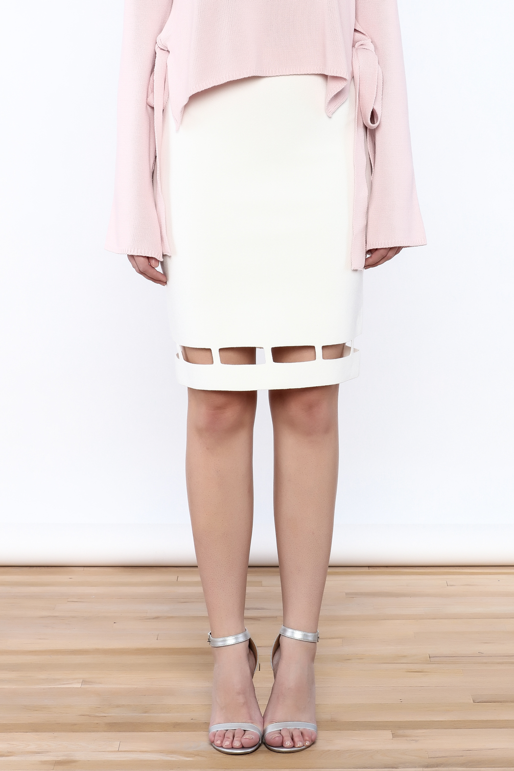 Pinkyotto White Pencil Skirt - Side Cropped Image
