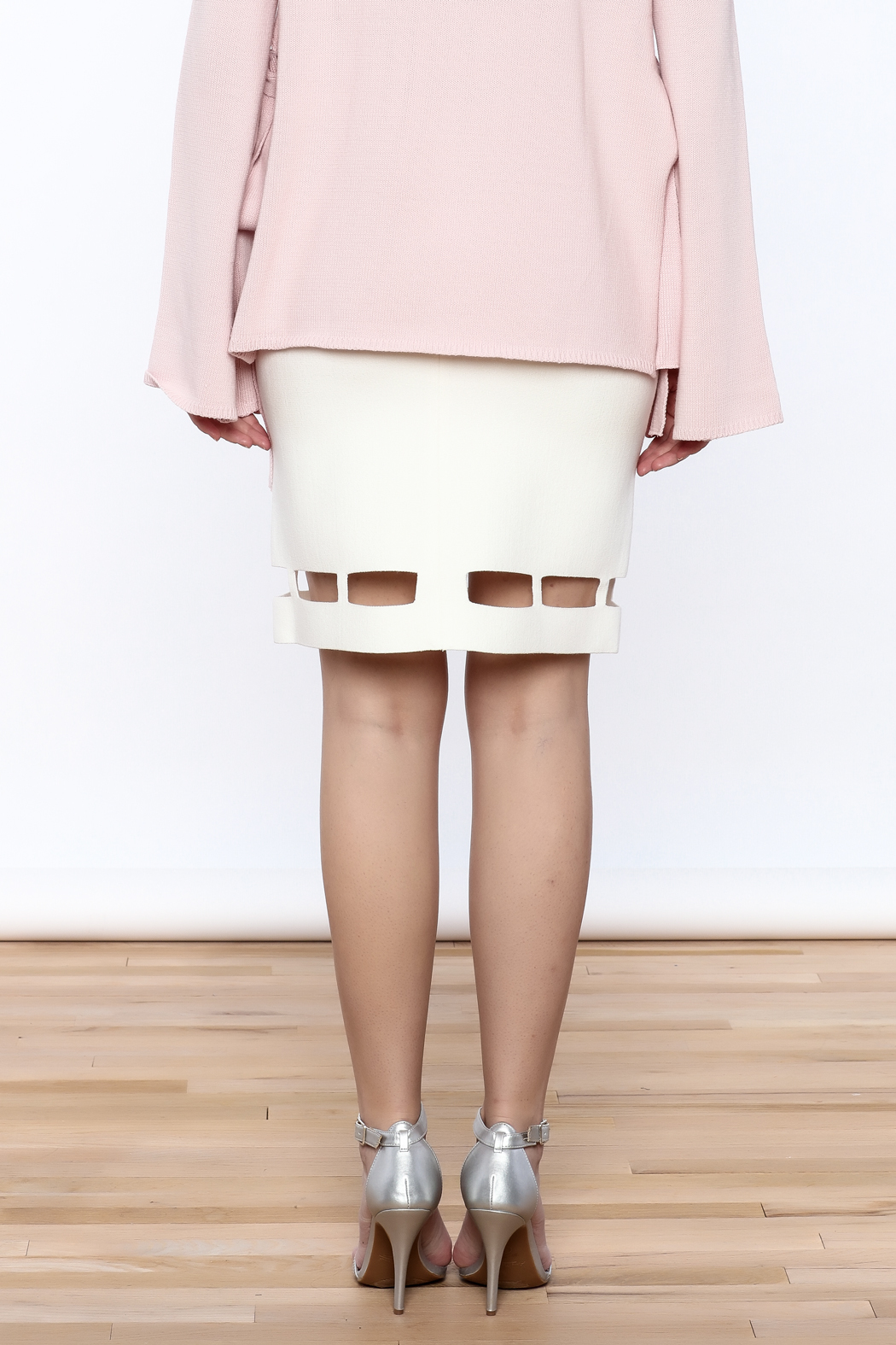 Pinkyotto White Pencil Skirt - Back Cropped Image