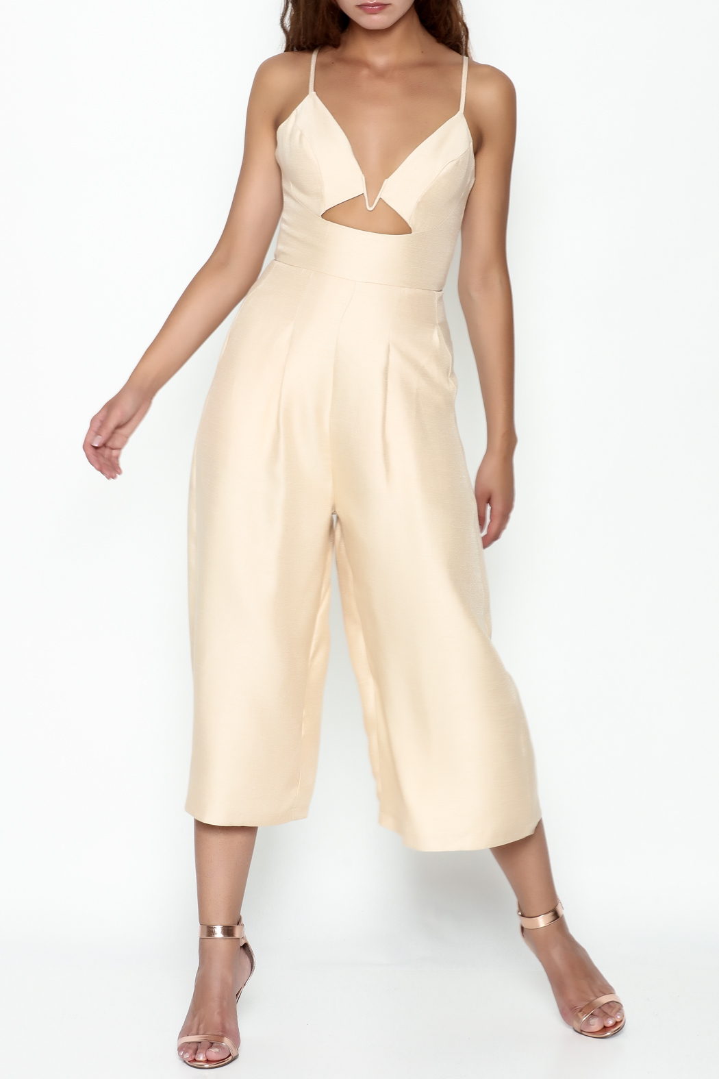Pinkyotto Cut Out Palazzo Jumpsuit - Front Cropped Image