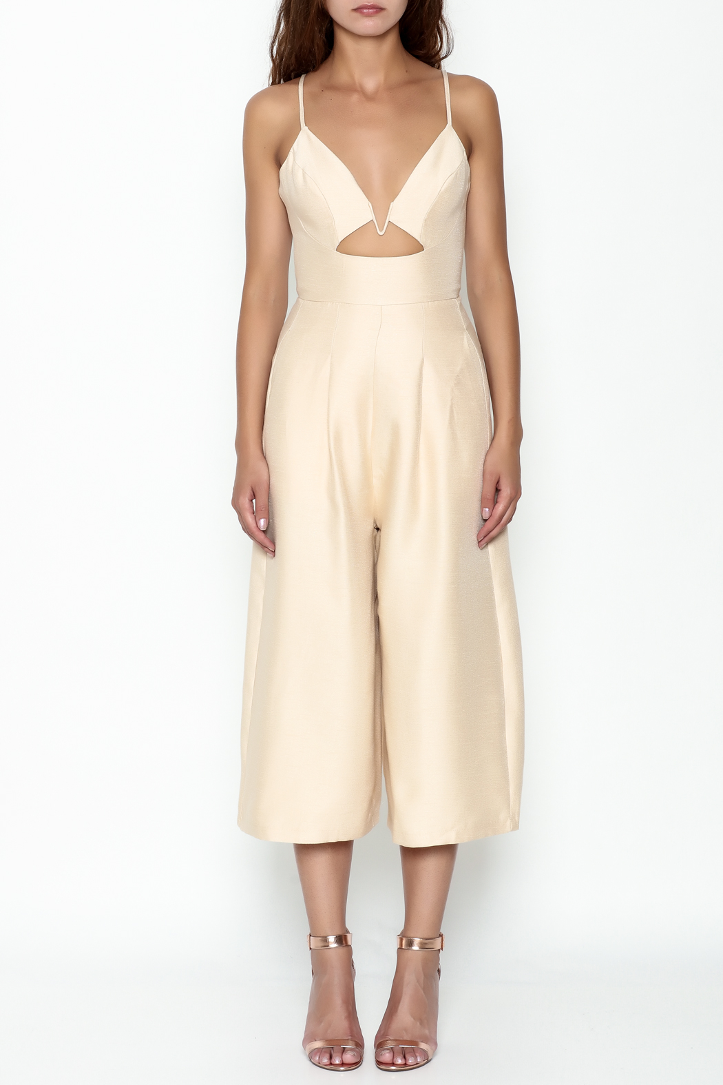 Pinkyotto Cut Out Palazzo Jumpsuit - Front Full Image