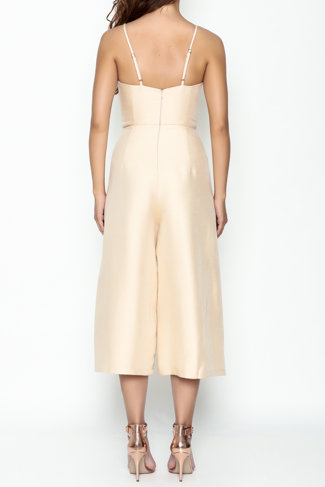 Pinkyotto Cut Out Palazzo Jumpsuit - Back Cropped Image