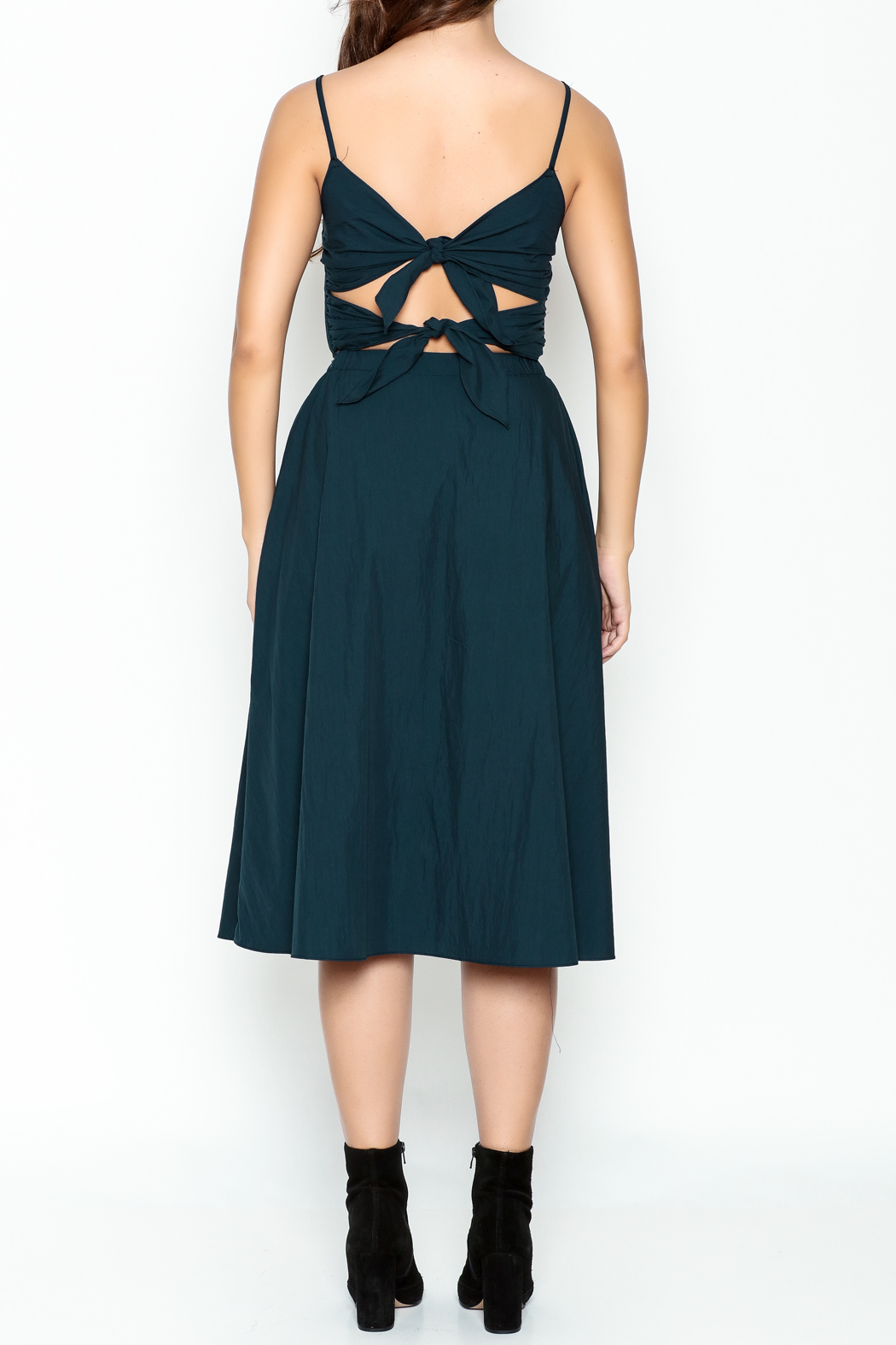 Pinkyotto Navy Strappy Dress - Back Cropped Image