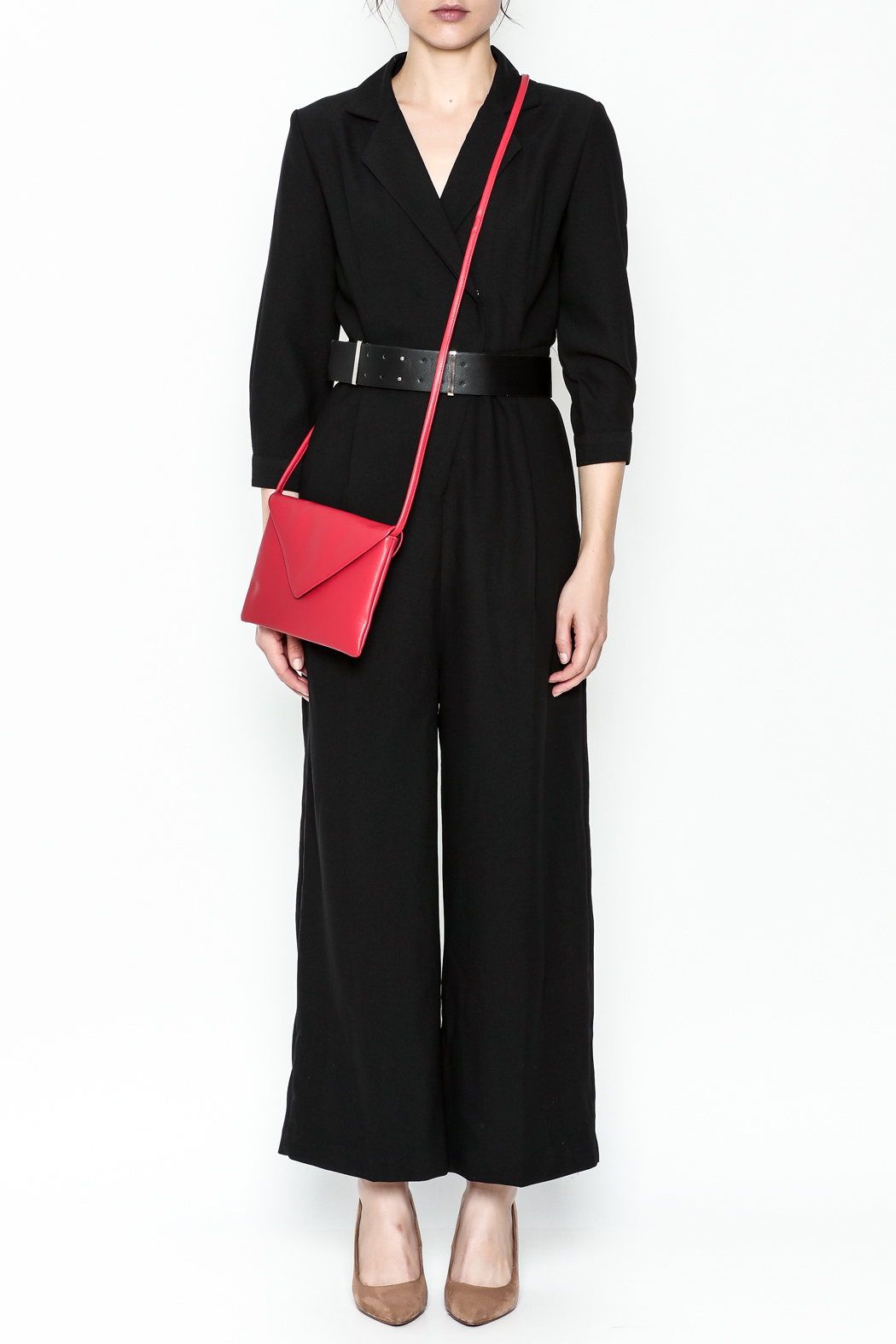 Pinkyotto Double Breasted Jumpsuit - Front Full Image