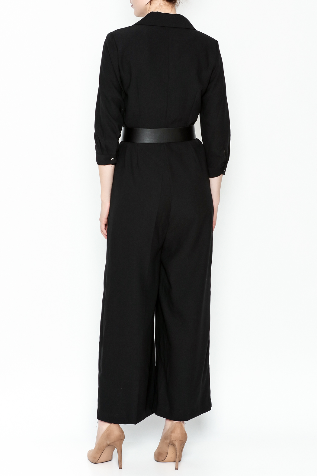 Pinkyotto Double Breasted Jumpsuit - Back Cropped Image