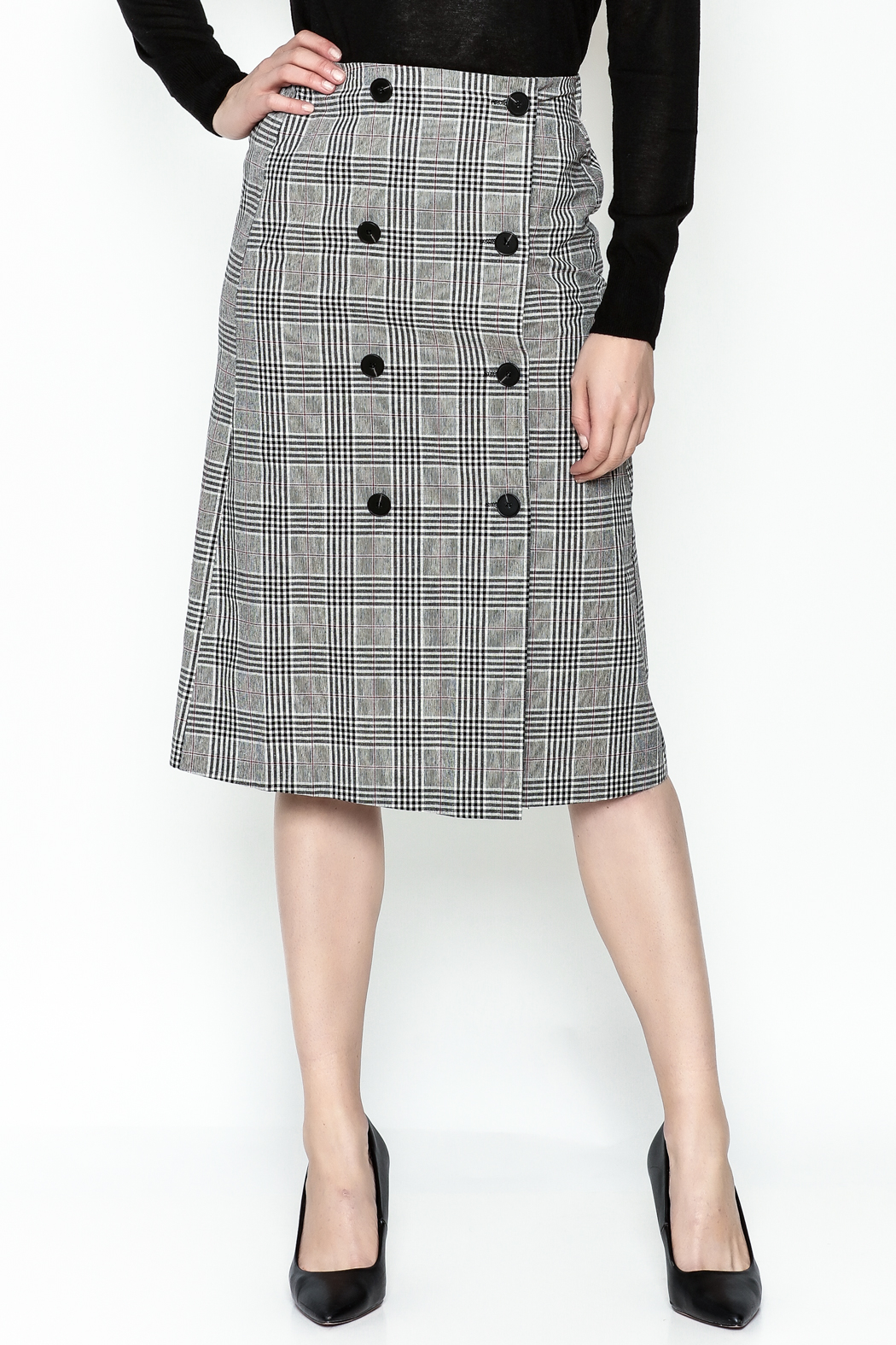 Pinkyotto Double Button Pencil Skirt - Main Image
