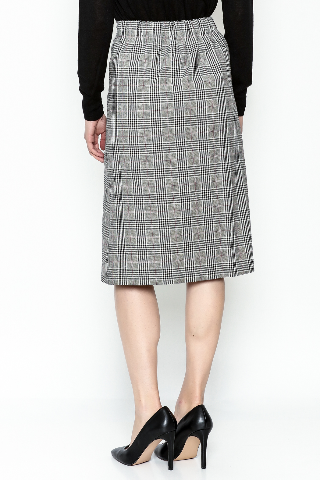 Pinkyotto Double Button Pencil Skirt - Back Cropped Image
