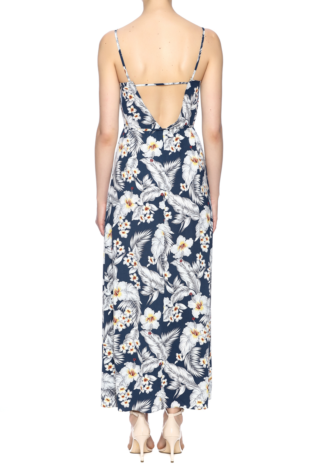 Pinkyotto Strapped Maxi Dress - Back Cropped Image