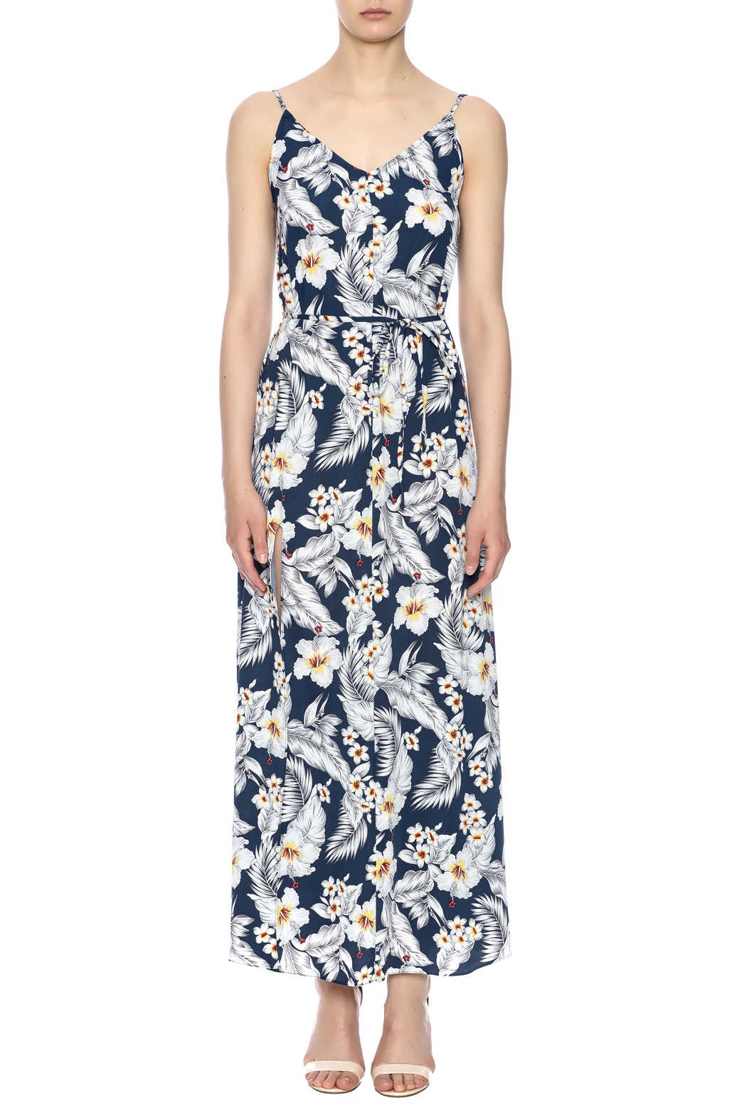 Pinkyotto Strapped Maxi Dress - Front Full Image