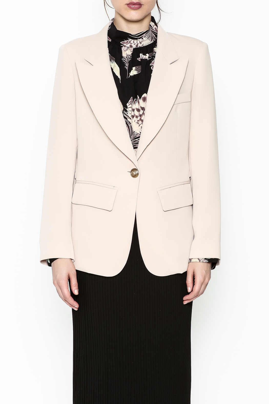 Pinkyotto Drape Back Chic Blazer - Main Image