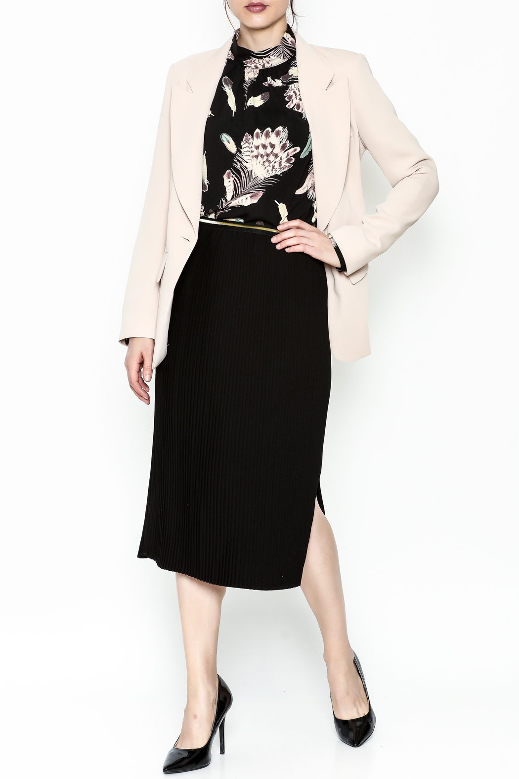 Pinkyotto Drape Back Chic Blazer - Side Cropped Image
