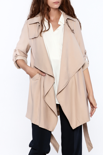 Pinkyotto Beige Loose Trench Coat - Main Image