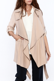 Pinkyotto Beige Loose Trench Coat - Front cropped
