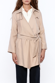 Pinkyotto Beige Loose Trench Coat - Front full body