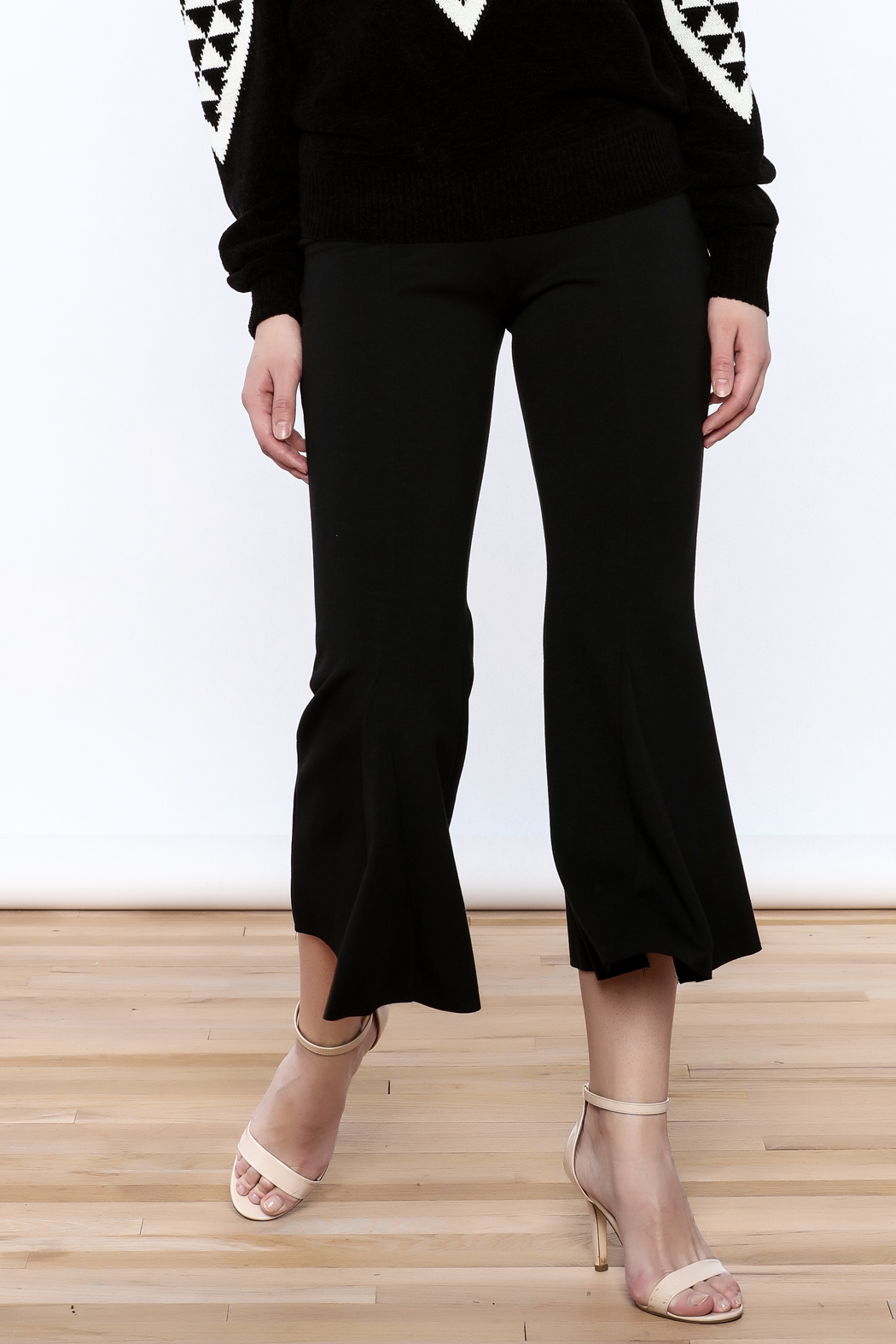 Pinkyotto Black Bell Pants - Front Cropped Image