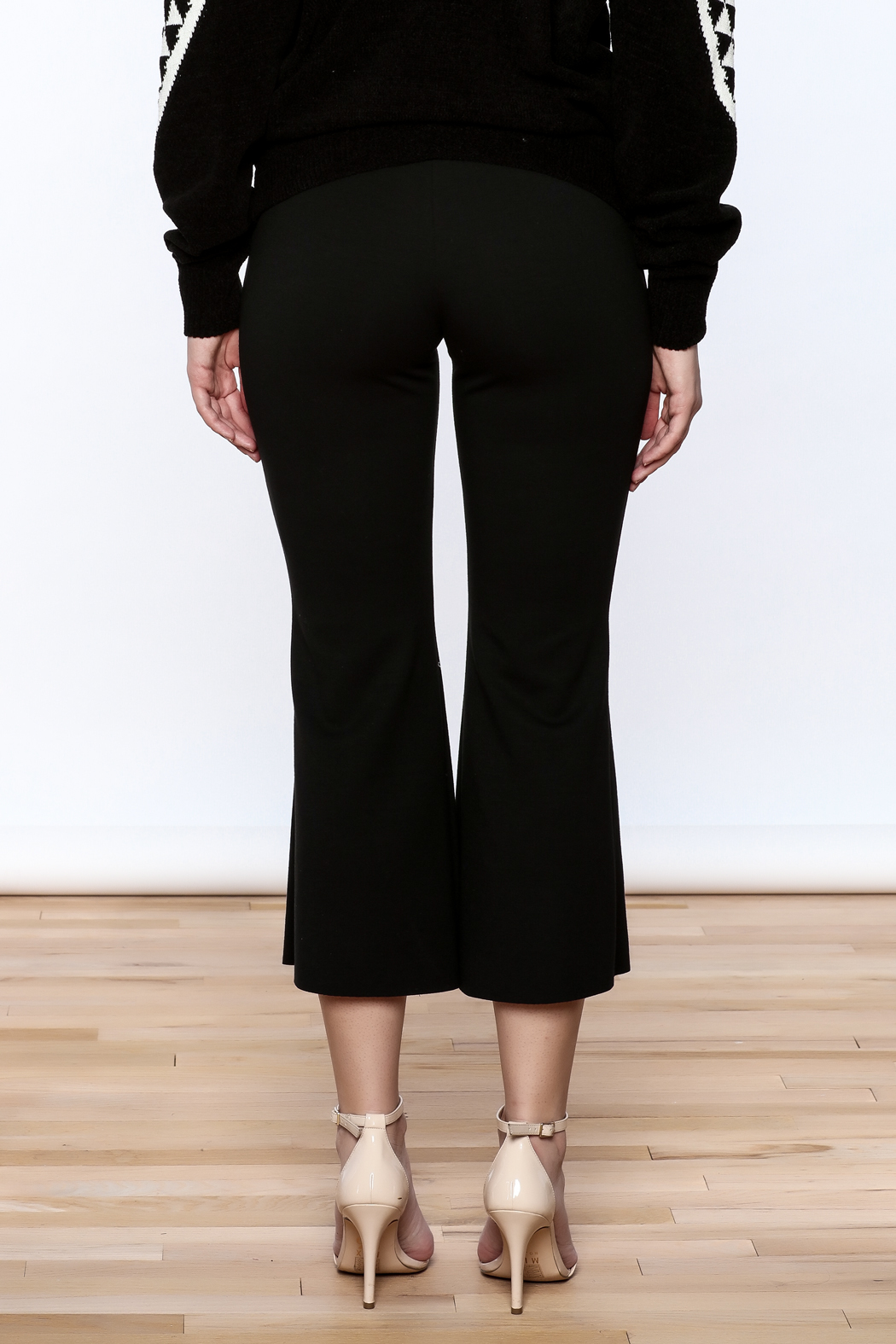 Pinkyotto Black Bell Pants - Back Cropped Image