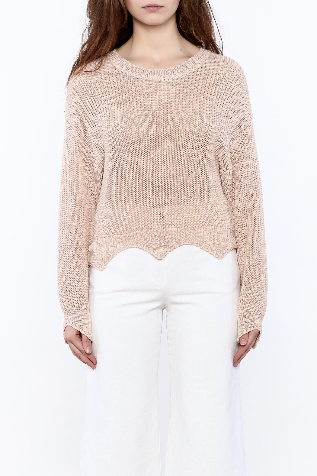 Pinkyotto Loose Knit Sweater - Side Cropped Image