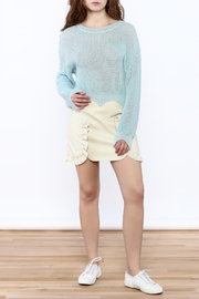 Shoptiques Product: Edgy Cropped Light Sweater - Front full body