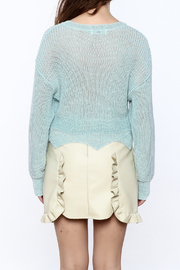Shoptiques Product: Edgy Cropped Light Sweater - Back cropped