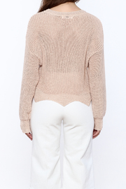 Pinkyotto Loose Knit Sweater - Back cropped