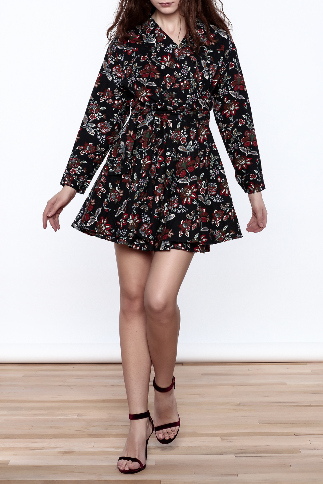 Pinkyotto English Garden Wrap Dress - Front Full Image