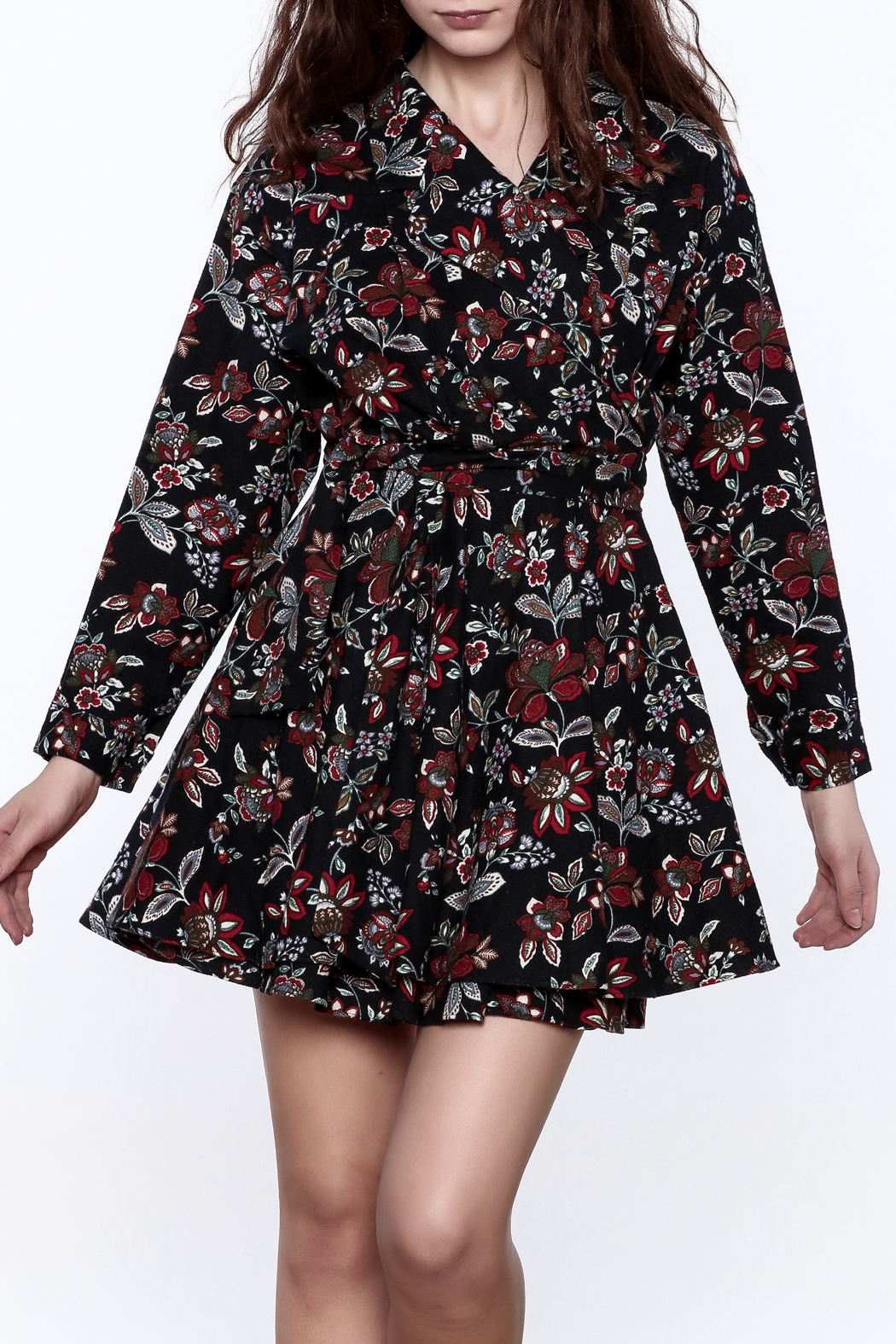 Pinkyotto English Garden Wrap Dress - Front Cropped Image