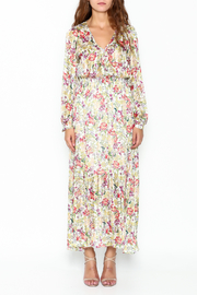 Pinkyotto Flowery Elastic Waist Dress - Front full body